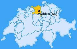 Karte von Wohlen (AG)