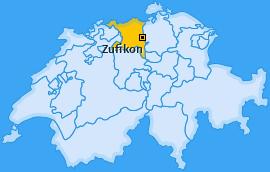 Karte von Zufikon