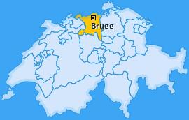 Karte von Brugg