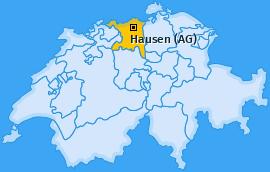 Karte von Hausen (AG)