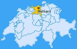 Karte von Mülligen