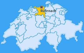 Karte von Rüfenach