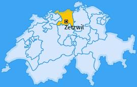 Karte von Zetzwil