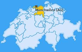 Karte von Münchwilen (AG)