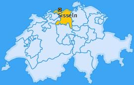 Karte von Sisseln