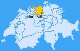 Karte von Muri (AG)