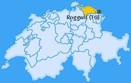 Karte von Roggwil (TG)
