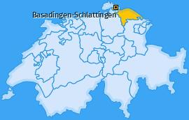 Karte von Basadingen-Schlattingen