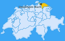 Karte von Uesslingen-Buch