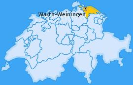 Karte von Warth-Weiningen