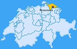 Karte von Braunau