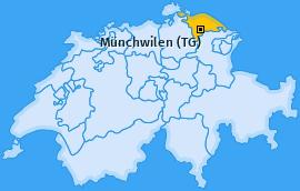 Karte von Münchwilen (TG)