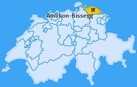 Karte von Amlikon-Bissegg
