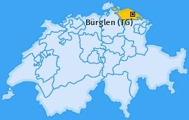 Karte von Bürglen (TG)