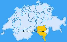 Karte von Arbedo-Castione