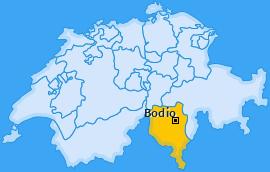 Karte von Bodio