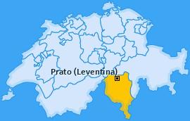 Karte von Prato (Leventina)