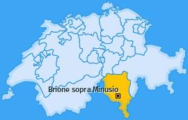 Karte von Brione sopra Minusio