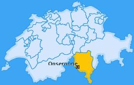 Karte von Onsernone
