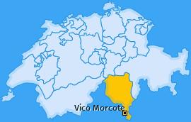 Karte von Vico Morcote