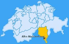 Karte von Alto Malcantone