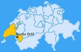 Karte von Roche (VD)