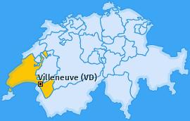 Karte von Villeneuve (VD)