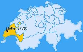 Karte von Mollens (VD)