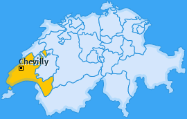 Karte von Chevilly