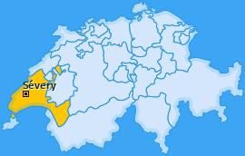 Karte von Sévery