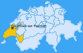 Karte von Essertines-sur-Yverdon
