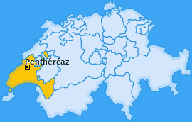 Karte von Penthéréaz