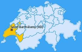 Karte von Saint-Barthélemy (VD)