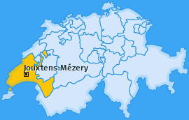 Karte von Jouxtens-Mézery