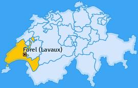 Karte von Forel (Lavaux)