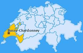 Karte von Bussy-Chardonney