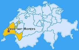 Karte von Vaux-sur-Morges