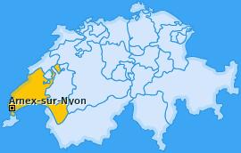 Karte von Arnex-sur-Nyon