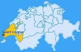 Karte von Saint-Cergue