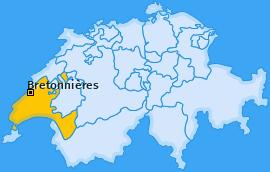 Karte von Bretonnières