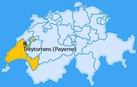 Karte von Treytorrens (Payerne)