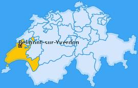 Karte von Belmont-sur-Yverdon