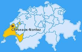 Karte von Cheseaux-Noréaz
