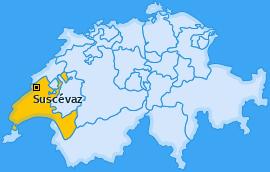 Karte von Suscévaz
