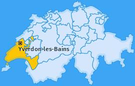 Karte Yverdon-les-Bains Yverdon-les-Bains