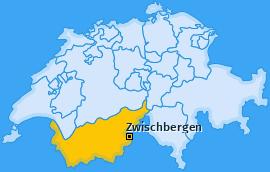 Karte von Zwischbergen