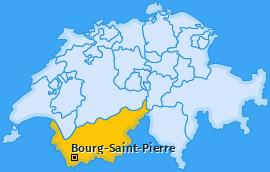 Karte von Bourg-Saint-Pierre