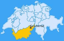 Karte von Fieschertal