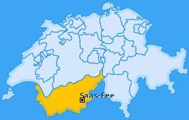 Karte von Saas-Fee