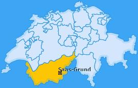 Karte von Saas-Grund